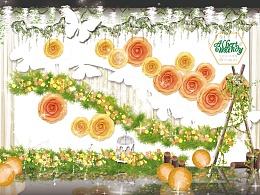 森系-橙色婚礼