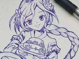 练习画小姐姐1