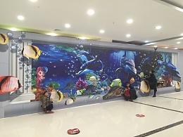 北京海洋馆主题原创经典创意3D画设计