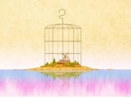 《镜子现实——离·岛》及首本自印画册封面步骤图