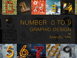 NUMBER GRAPHIC DESIGN by C4D
