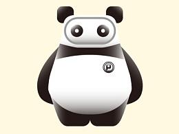 带眼罩的熊猫