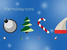 Flat Holiday Icons
