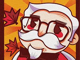 KFC20周年插画