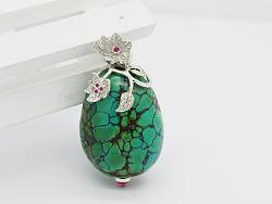 代波军艺术珠宝定制----   一件绿松美丽一个女人作品欣赏