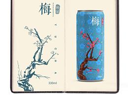 梅花茶' 罐体包装图案设计