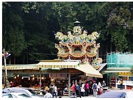 阿里山的高山寺庙