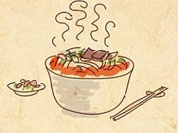 手绘食谱《肠旺面》