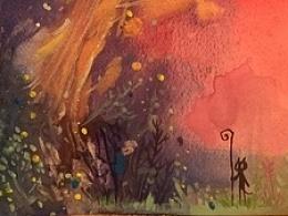 最近几个月的水彩画