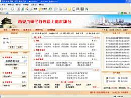 06年旧作-西安市电子政务网上审批平台界面