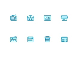 blue little icons