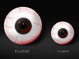 上班无聊画个眼球吓吓人。。。
