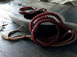 独家限量供应 稀少款扁桶琉璃珠串