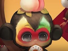 去年果然时候画哒 小猴子~ 哈哈哈