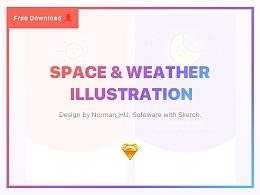 太空&天气图标设计