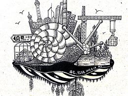 城市发展,历史变迁,用画笔记录。。。