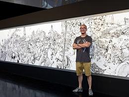 金正基大师24小时完成挑战世界吉尼斯纪录大幅插画作品!