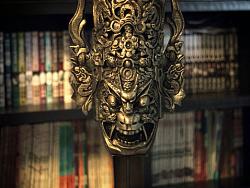 ◆ 傩面.完成的样子。中国的地戏面具. 
