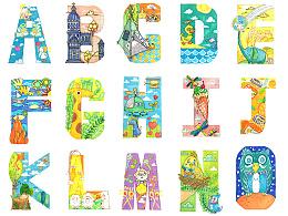 可爱版26字母插画