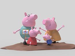 小猪佩奇原创雕塑设计
