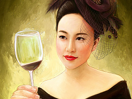喝红酒的大姐姐