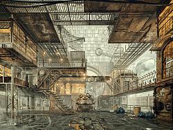 原创作品:2016渲云杯空间效果图表现大赛获奖作品《时间工厂》表现
