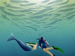 插画作业-深海
