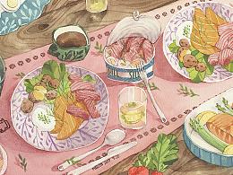 仲夏节餐桌