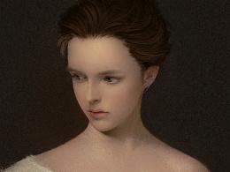 油画风格肖像
