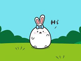 萌萌的墩墩兔动态表情~