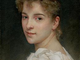 彩铅人物-临摹-布格罗《加布里埃尔·柯特的肖像》