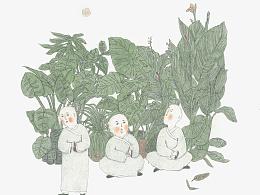 《三个和尚》江苏凤凰美术出版社