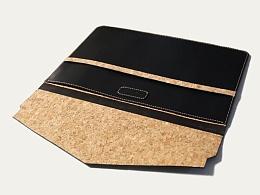 KOUTEN纯手工设计/黑+软木imac book air电脑包or文件袋