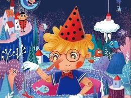 儿童插画杂志封面