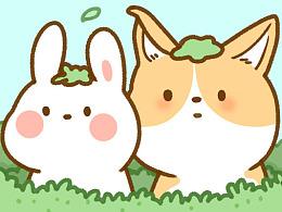 兔白白和小土豆--微信表情设计(动画)