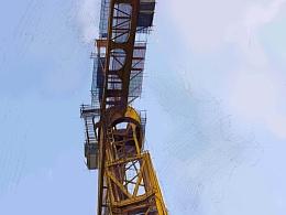 深圳中心城的塔吊