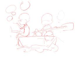 原创插画《西瓜小舟》