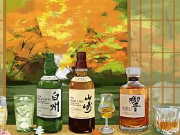 Suntory三得利新年插画