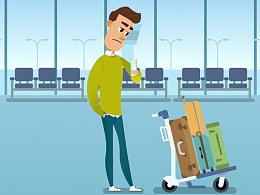 智慧机场APP宣传动画