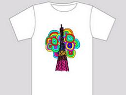 为广州旅游公司设计的小蛮腰T恤