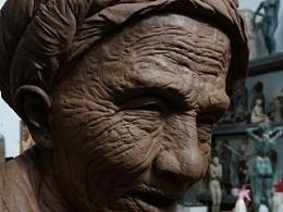 《父亲》罗中立----雕塑泥稿未完···先睹为快!!!