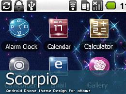 """android手机主题设计""""Scorpio"""""""