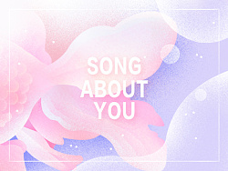 海报练习*lyrics book*song about you*