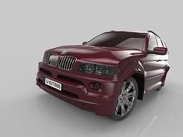 汽车建模渲染