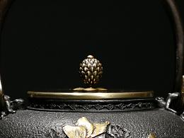 沐焱堂 花开富贵铁壶 铸铁 鎏金无涂层纯铁煮茶壶 养生茶壶日本