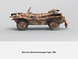 German Schwimmwagen type 166