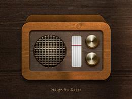 老式收音机图标一枚