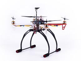 四轴无人机摄影图