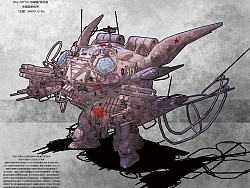 """Ghy-44f1ru""""勾魂眼""""中型战争机甲"""