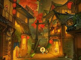 《土城》----系列之二,附带绘制过程。